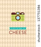 happy camera say cheese | Shutterstock .eps vector #137751386