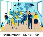 team work conference meeting.... | Shutterstock . vector #1377518735