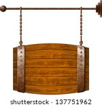 Barrel Shaped Wooden Signboard...