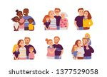 happy families. vector... | Shutterstock .eps vector #1377529058