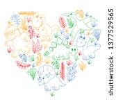 pattern kids fabric  textile ...   Shutterstock .eps vector #1377529565