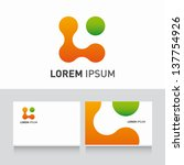 organic icon vector design elements with business card template editable