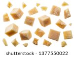 parmesan cheese cubes and...   Shutterstock . vector #1377550022
