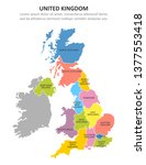 uk multicolored map with...   Shutterstock .eps vector #1377553418