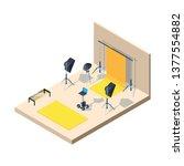 photo studio interior....   Shutterstock .eps vector #1377554882