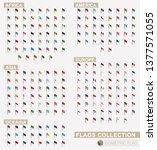 isometric flag collection of... | Shutterstock .eps vector #1377571055