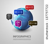 infographic design | Shutterstock .eps vector #137757722