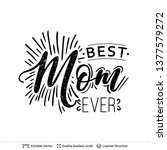 happy mother's day greeting... | Shutterstock .eps vector #1377579272