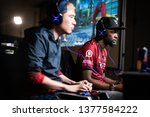 Small photo of SAN JOSE, CA/USA - MARCH 30, 2019: eSports competitor Bryant Smug Huggins versus Masato Bonchan Takahashi in Street Fighter V: Arcade Edition SFV match at video game tournament NCR NorCal Regionals.
