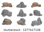 set of stones and rocks for... | Shutterstock . vector #1377617138