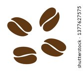 vector coffee beans icon seeds... | Shutterstock .eps vector #1377627575
