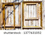 old wooden frames with gilding... | Shutterstock . vector #1377631052