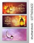 ramadan kareem greeting islamic ...   Shutterstock .eps vector #1377631622