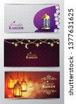 ramadan kareem  greeting...   Shutterstock .eps vector #1377631625
