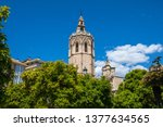a beautiful view of torre del... | Shutterstock . vector #1377634565