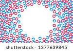 like and heart background.... | Shutterstock .eps vector #1377639845