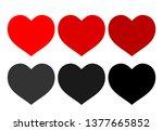valentines day heart vector... | Shutterstock .eps vector #1377665852