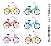 Set Of Multi Colored Bicycles....