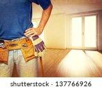 Closeup Image Of Handyman At...