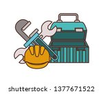construction tool box isolated...   Shutterstock .eps vector #1377671522