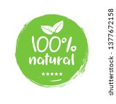 100 natural organic stamp food...   Shutterstock .eps vector #1377672158