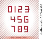 abstract numbers in retro style ...   Shutterstock .eps vector #137767586