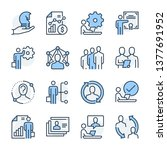 human resources theme icon set. ... | Shutterstock .eps vector #1377691952