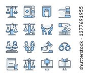 law theme icon set. the set is... | Shutterstock .eps vector #1377691955