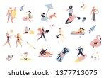 set of outdoor summer people... | Shutterstock .eps vector #1377713075
