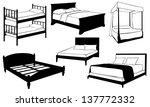 set of different beds   Shutterstock .eps vector #137772332
