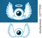 eye  2  with angel wings and... | Shutterstock .eps vector #13777555