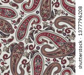traditional paisley pattern | Shutterstock .eps vector #1377796208