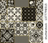 seamless patchwork tile with... | Shutterstock .eps vector #1377798515