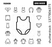 fashion line icons set for...