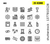 mix line icons set for...