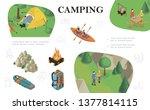 isometric outdoor recreation... | Shutterstock .eps vector #1377814115