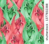 roaring watercolor dragons with ...   Shutterstock . vector #1377832388