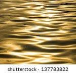 Golden Shimmering Seawater...