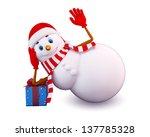illustration of snow man | Shutterstock . vector #137785328