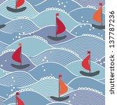 marine seamless pattern | Shutterstock .eps vector #137787236
