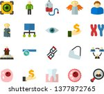 color flat icon set   angel... | Shutterstock .eps vector #1377872765