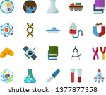 color flat icon set   textbooks ... | Shutterstock .eps vector #1377877358