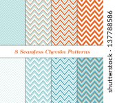 8 seamless chevron patterns in... | Shutterstock .eps vector #137788586