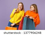 two laughing blonde twins...   Shutterstock . vector #1377906248