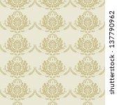 damask pattern | Shutterstock .eps vector #137790962