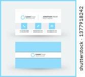 double sided horizontal modern... | Shutterstock .eps vector #1377918242