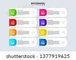 infographic design template for ... | Shutterstock .eps vector #1377919625