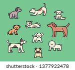 a variety of cute dogs. outline ... | Shutterstock .eps vector #1377922478