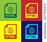 color html file document icon.... | Shutterstock .eps vector #1377924572