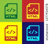 color html file document icon.... | Shutterstock .eps vector #1377924578